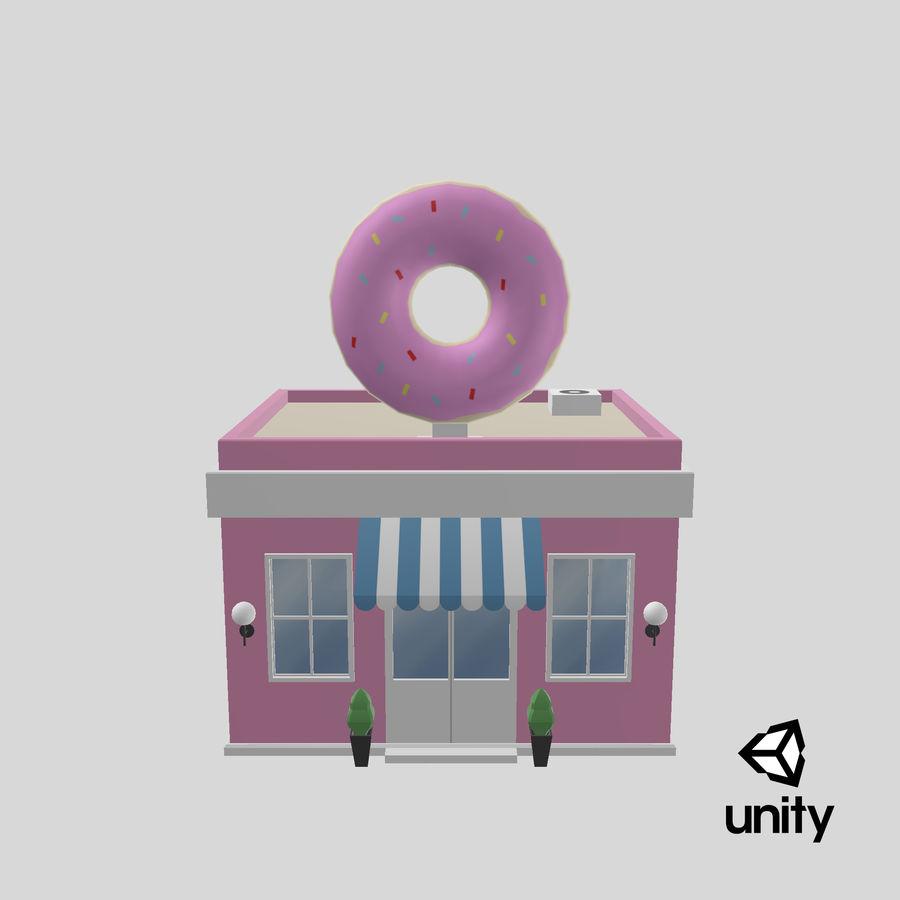 Donuts Shop 3D Model royalty-free 3d model - Preview no. 21