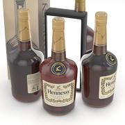 Alcohol Bottle Cognac Hennessy Cognac 700ml 3d model