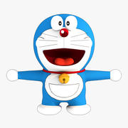 Doraemon Low Poly 3d model