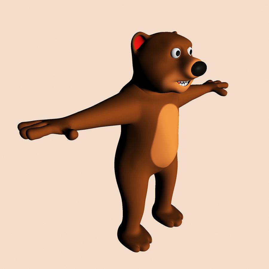 Cartoon Bear royalty-free 3d model - Preview no. 3