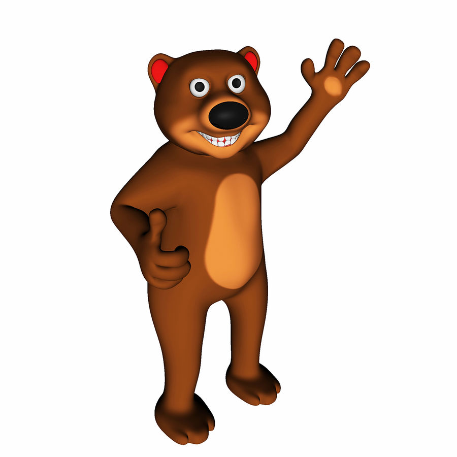 Cartoon Bear royalty-free 3d model - Preview no. 1