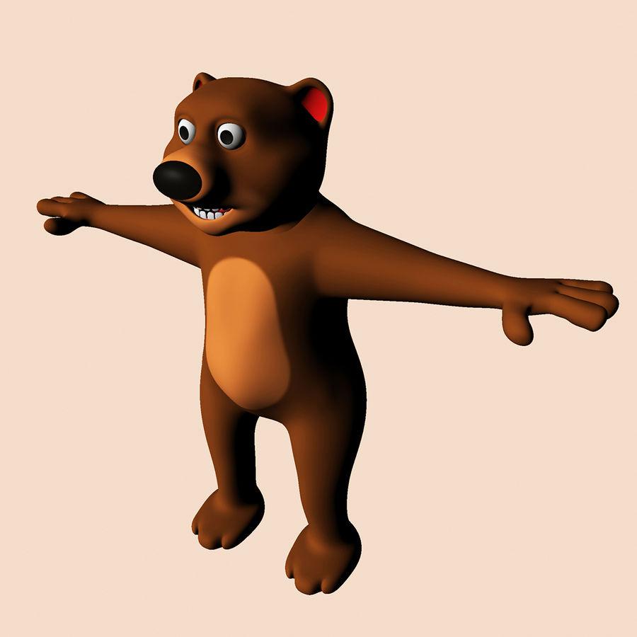 Cartoon Bear royalty-free 3d model - Preview no. 4