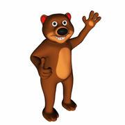 만화 곰 3d model