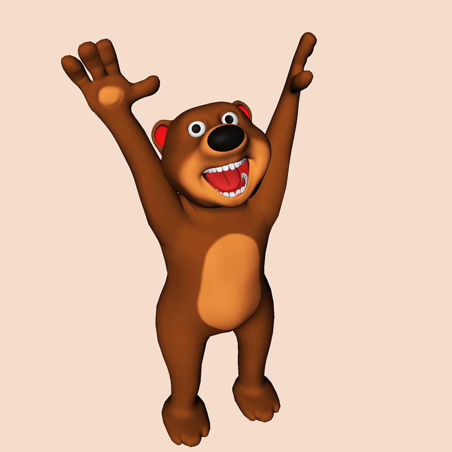 Cartoon Bear royalty-free 3d model - Preview no. 6