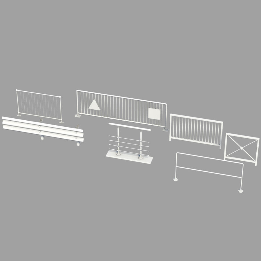 fences royalty-free 3d model - Preview no. 1