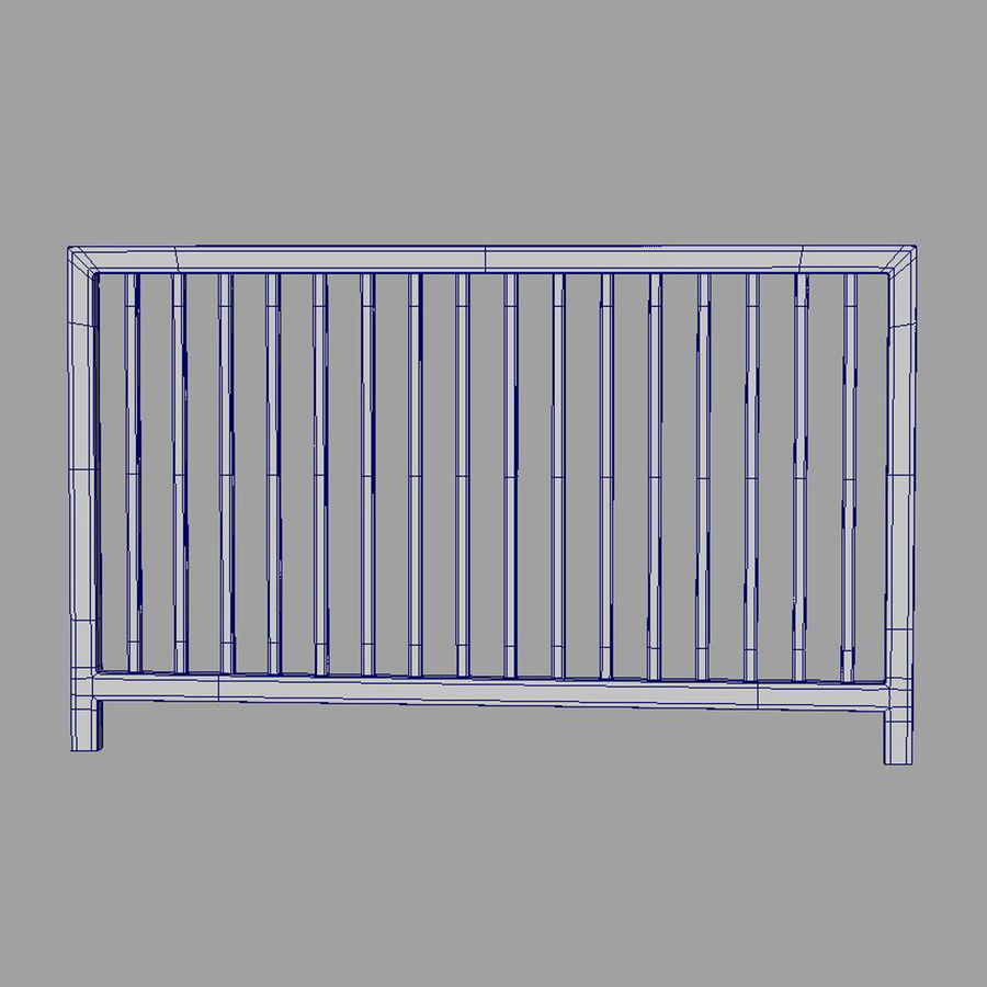 fences royalty-free 3d model - Preview no. 13