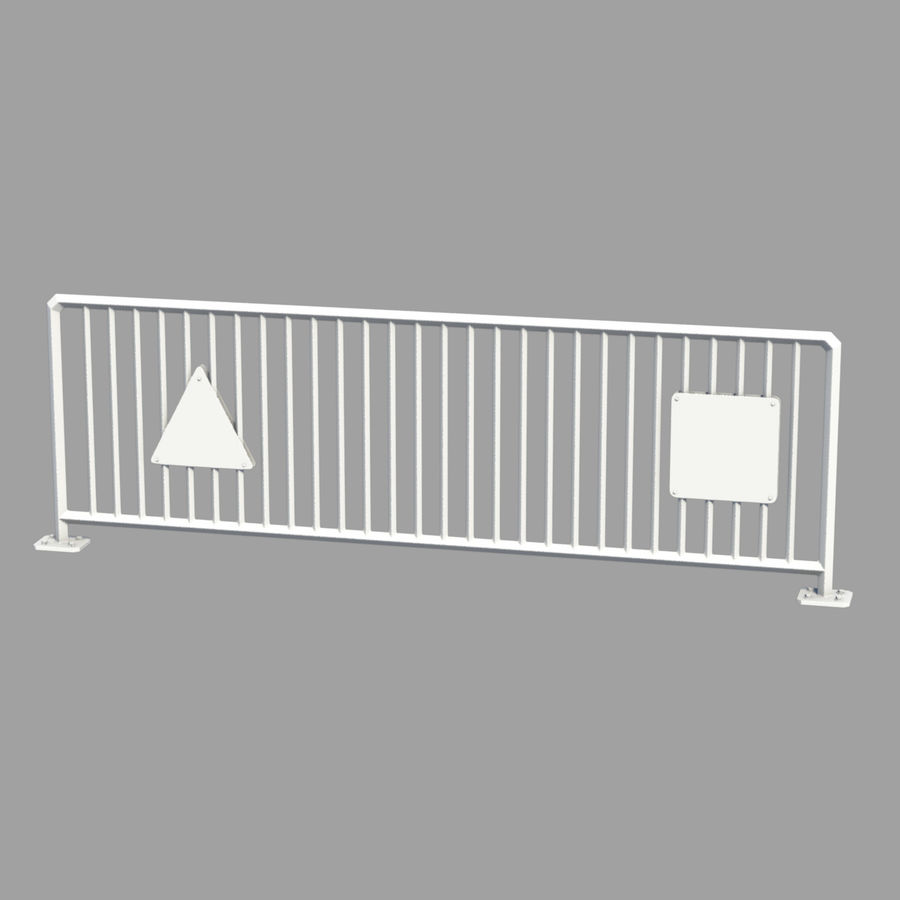 fences royalty-free 3d model - Preview no. 3