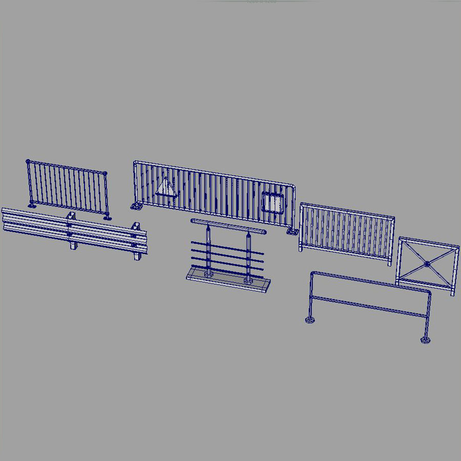 fences royalty-free 3d model - Preview no. 9