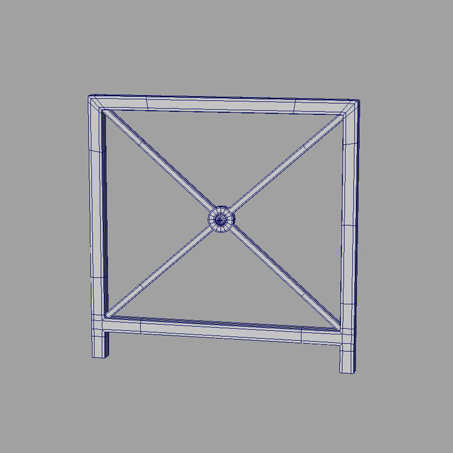 fences royalty-free 3d model - Preview no. 12