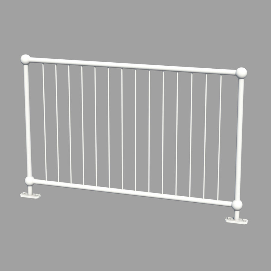 fences royalty-free 3d model - Preview no. 4