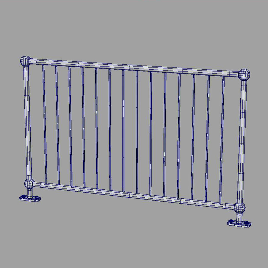 fences royalty-free 3d model - Preview no. 15