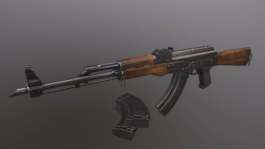 AK royalty-free 3d model - Preview no. 1