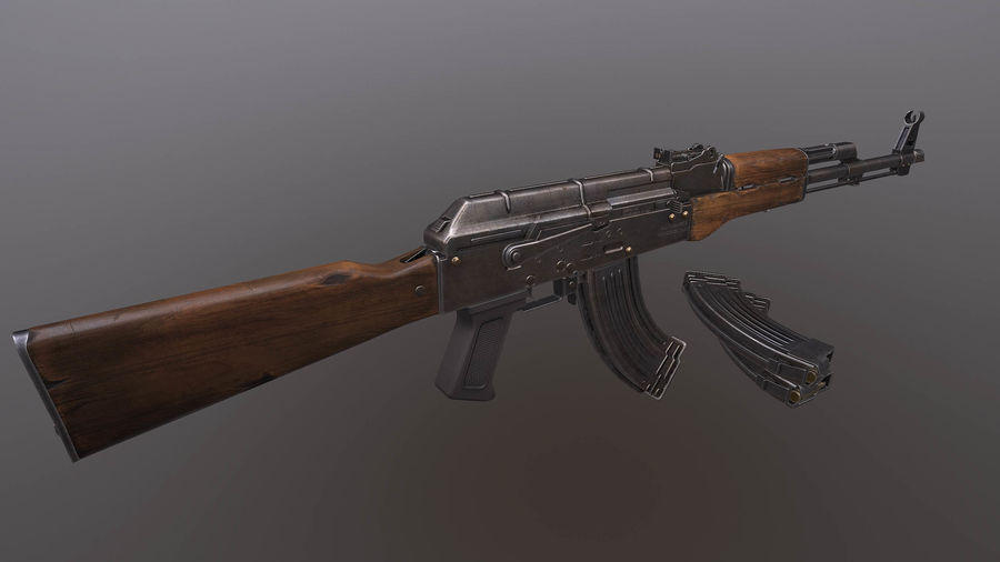 AK royalty-free 3d model - Preview no. 2