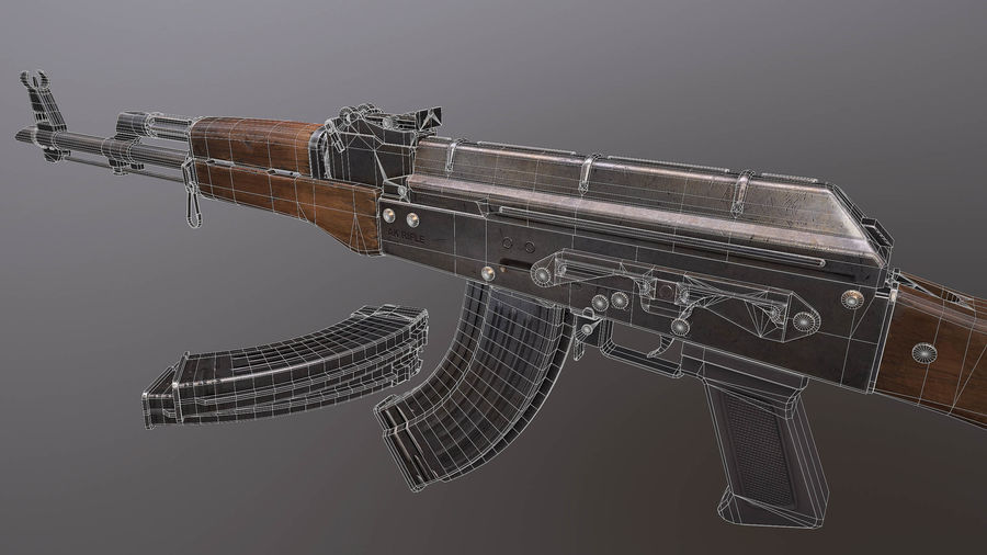 AK royalty-free 3d model - Preview no. 7