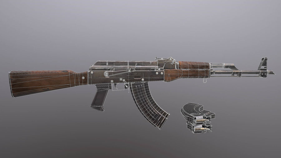 AK royalty-free 3d model - Preview no. 8