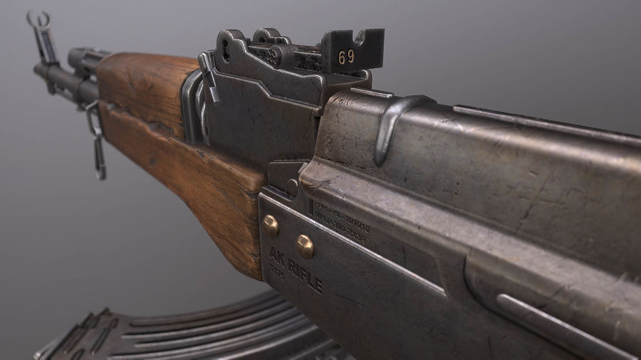 AK royalty-free 3d model - Preview no. 5