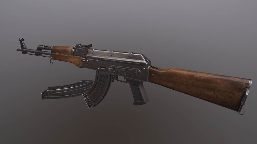 AK royalty-free 3d model - Preview no. 3