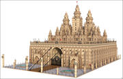 Oriental Fantasy Castle 3d model
