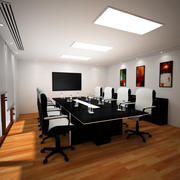 회의실 3d model
