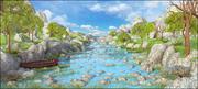Krajobraz rzeczny 3d model