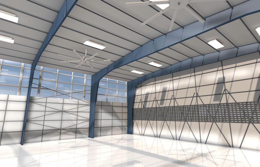hangar per aereo royalty-free 3d model - Preview no. 2