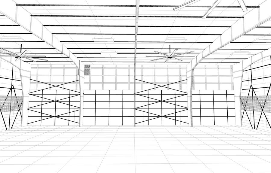 hangar per aereo royalty-free 3d model - Preview no. 4