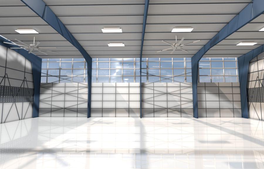 hangar per aereo royalty-free 3d model - Preview no. 3