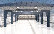 hangar per aereo 3d model