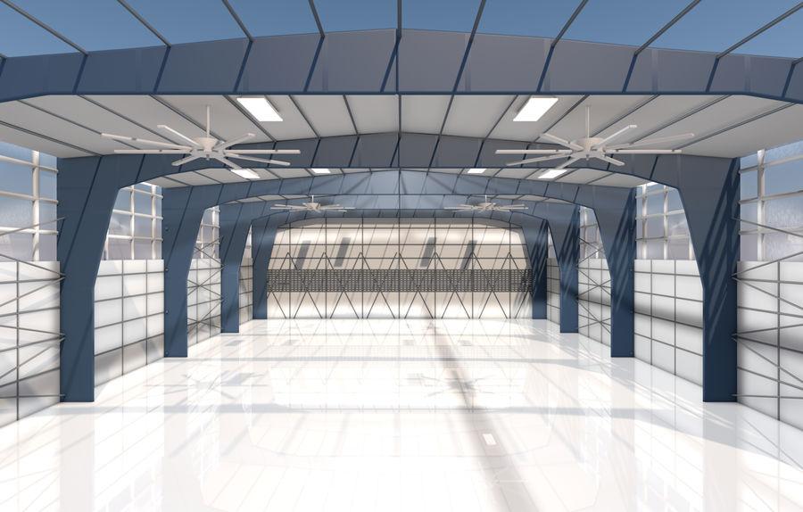 hangar per aereo royalty-free 3d model - Preview no. 1