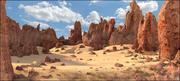Desert Rocky Landscape 3d model