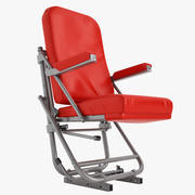 Old Airplane Pilot Chair 04 3d model