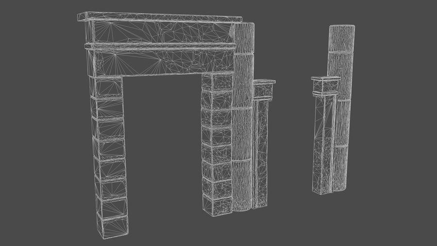 templo egipcio royalty-free modelo 3d - Preview no. 6