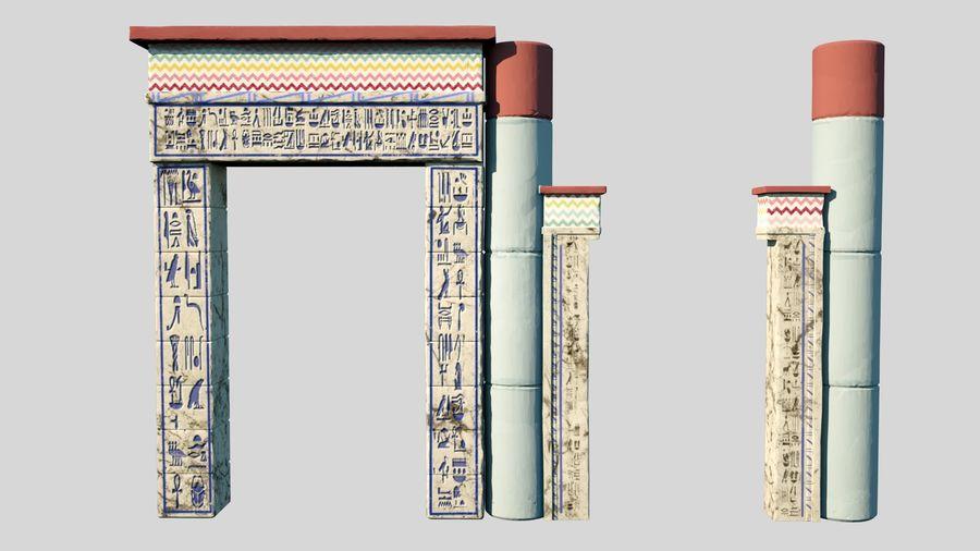 templo egipcio royalty-free modelo 3d - Preview no. 1