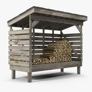 Yakacak odun yığını 3d model