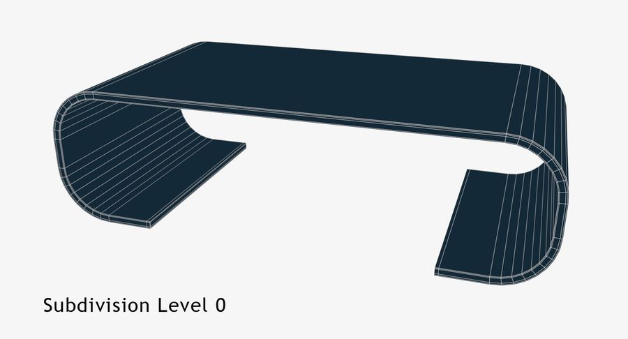 Nowoczesny stolik kawowy royalty-free 3d model - Preview no. 7