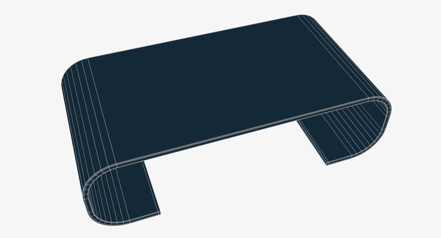Nowoczesny stolik kawowy royalty-free 3d model - Preview no. 10