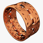 Copper Bracelet 3d model