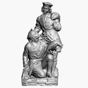 Łowcy Rzeźba Surowy skan 3d model