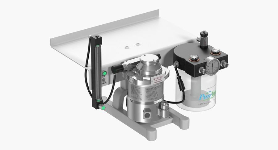Small Animal Anesthesia Workstation 3D Model royalty-free 3d model - Preview no. 4