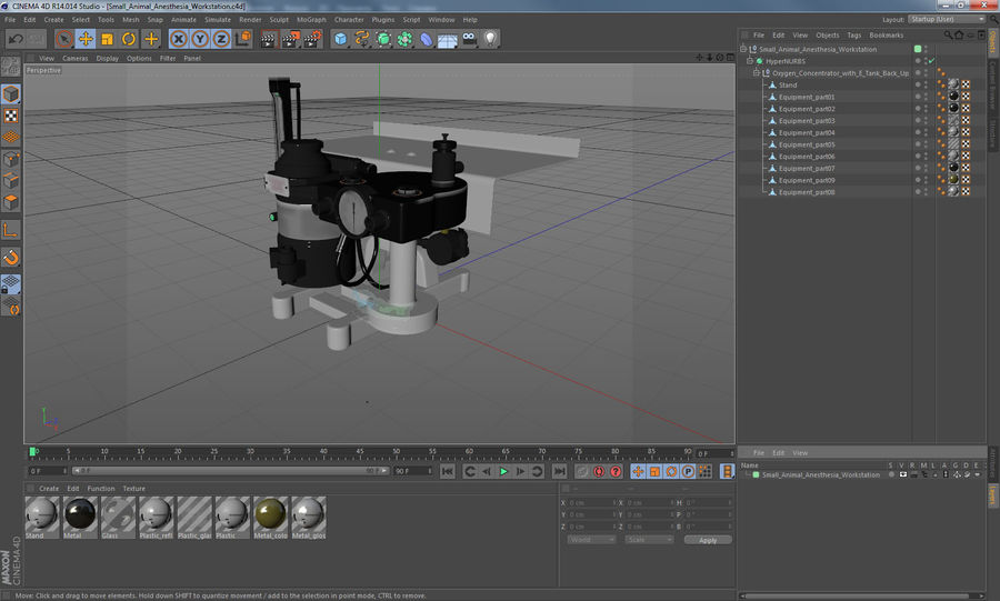 Small Animal Anesthesia Workstation 3D Model royalty-free 3d model - Preview no. 17