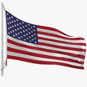 Drapeau des Etats Unis 3d model