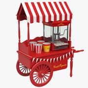 Popcorn Cart 3d model