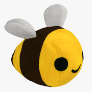 Фаршированная игрушка Пчела с мехом 3d model