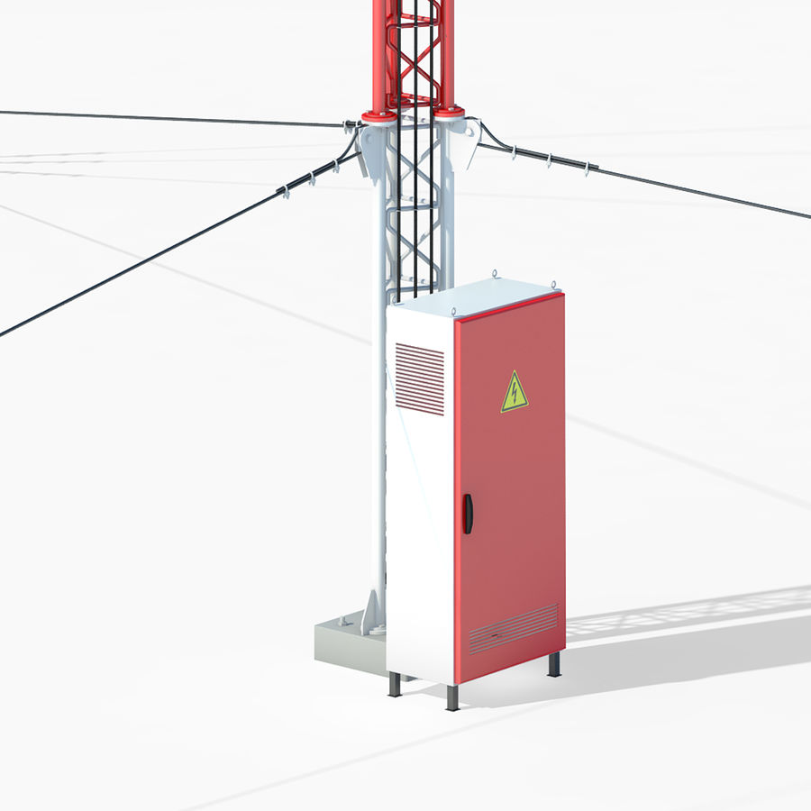 Communication tower royalty-free 3d model - Preview no. 4