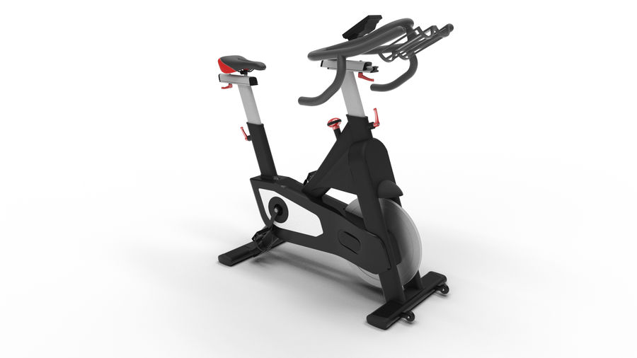 Bicicleta de gimnasio royalty-free modelo 3d - Preview no. 2