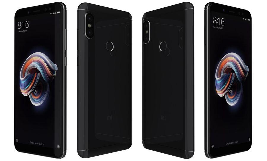 Xiaomi Redmi Note 5 Black royalty-free 3d model - Preview no. 5
