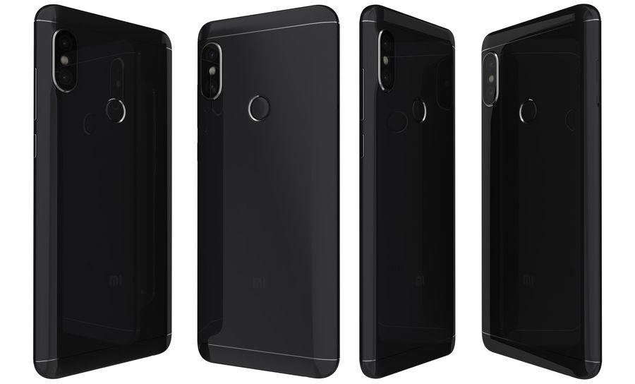Xiaomi Redmi Note 5 Black royalty-free 3d model - Preview no. 4