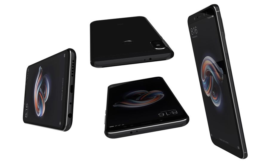 Xiaomi Redmi Note 5 Black royalty-free 3d model - Preview no. 14