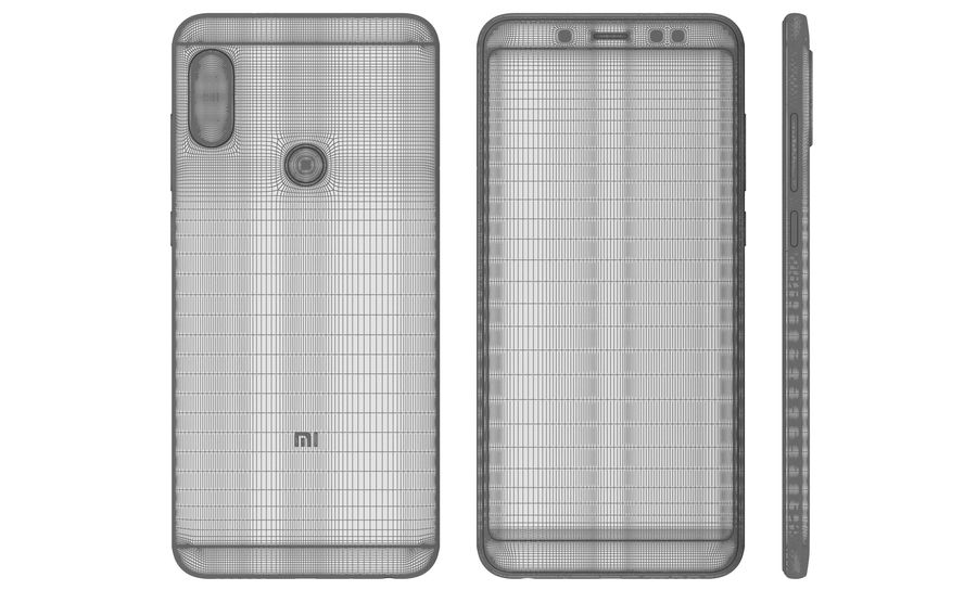 Xiaomi Redmi Note 5 Black royalty-free 3d model - Preview no. 18