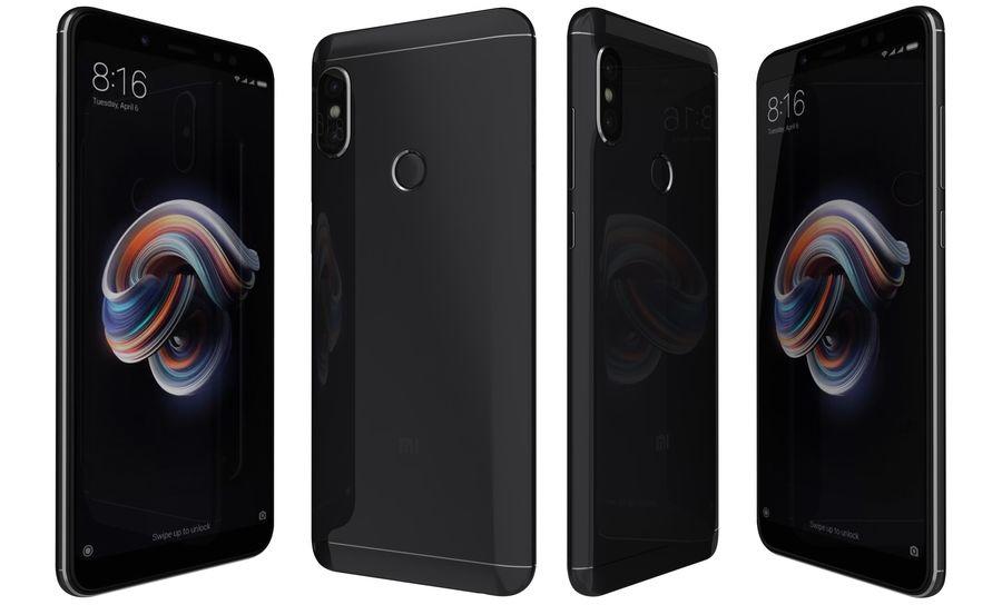 Xiaomi Redmi Note 5 Black royalty-free 3d model - Preview no. 3
